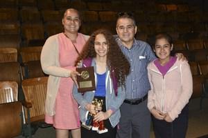 Sarai with her parents at Sports Awards