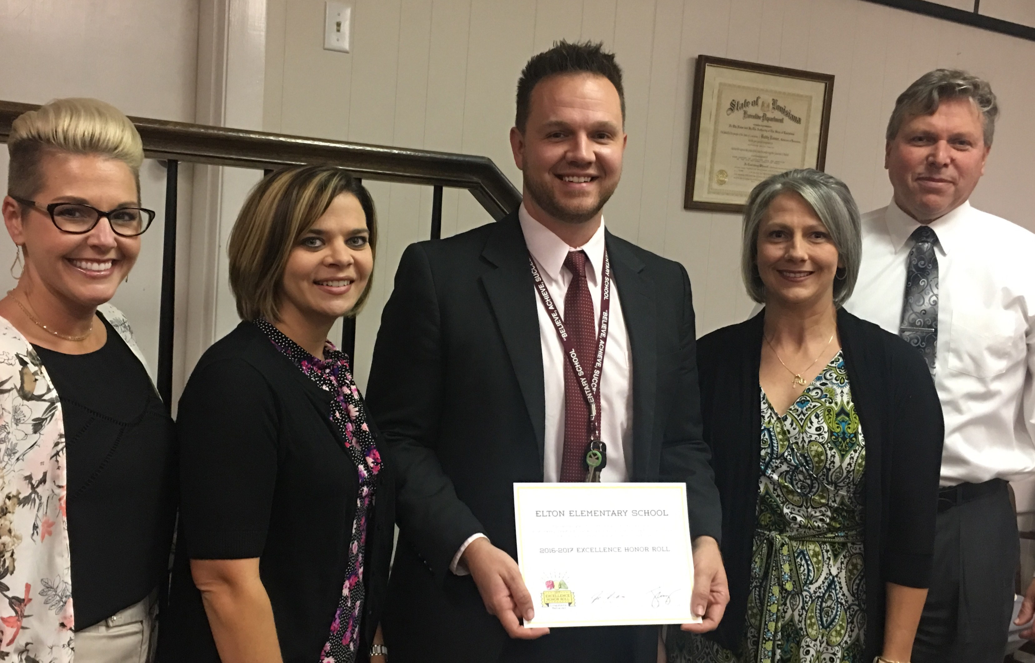 Elton Elementary receives the 2016-17 Excellence Honor Roll award for PreK classrooms.