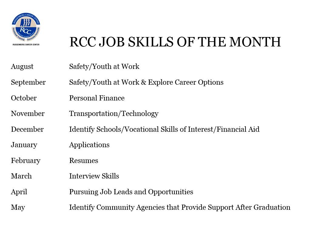 RCC Job Skills of the Month