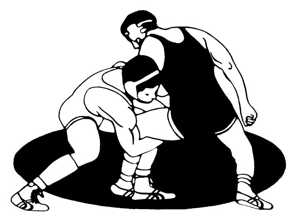 wrestlers clip art picture