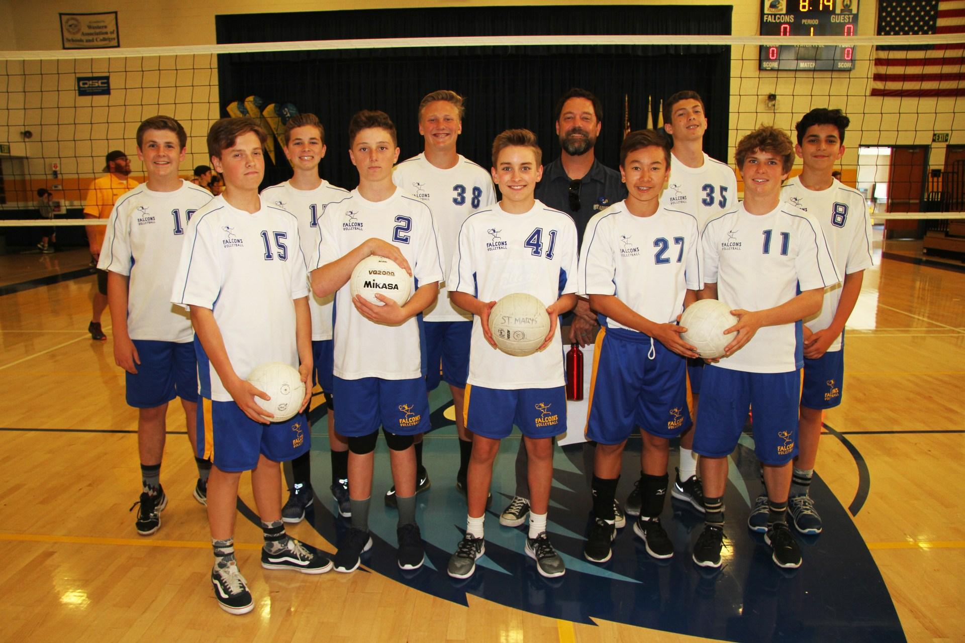 Mountain A boys' volleyball team