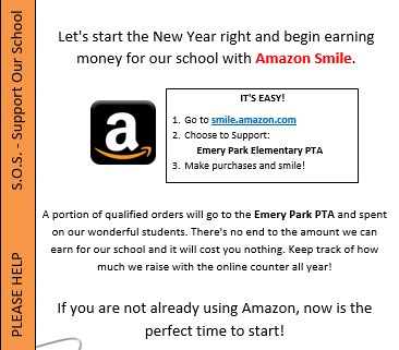 Buy from Amazon Smile, Support Emery Park School! Thumbnail Image