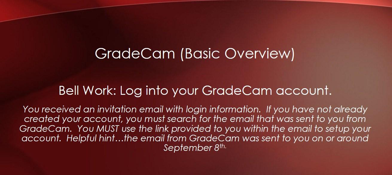 GradeCam Bell Work