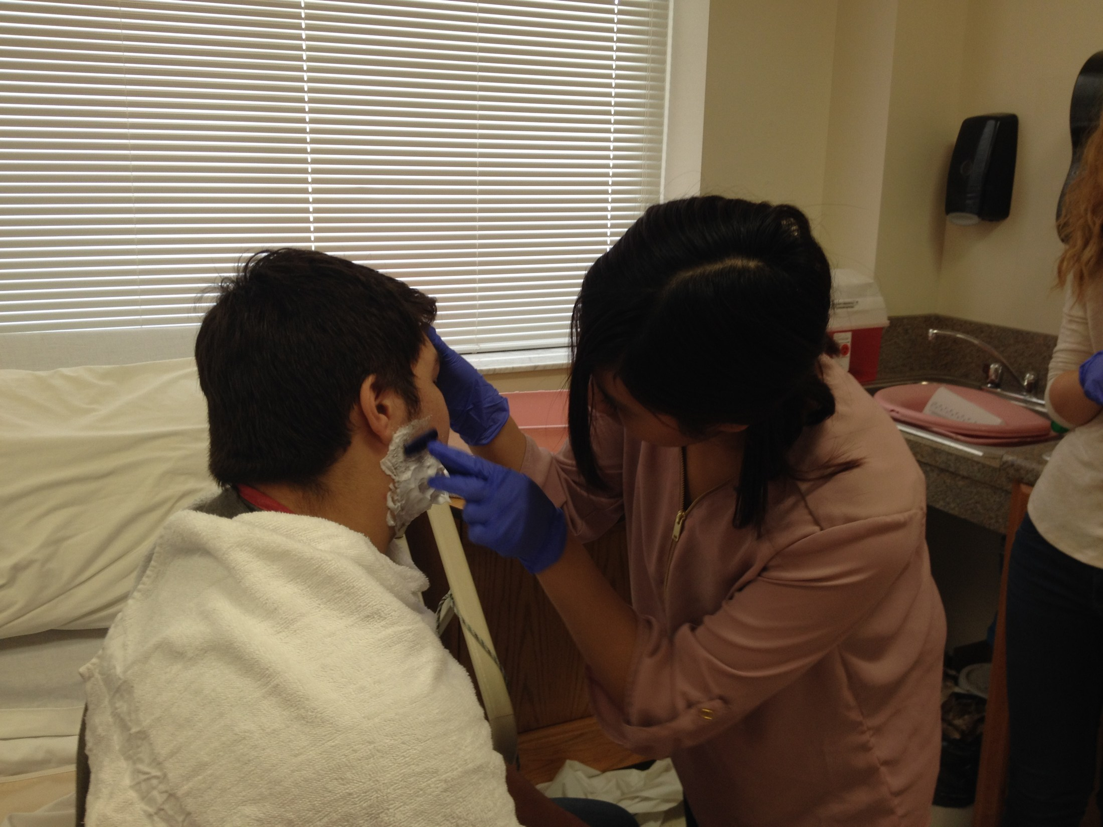 East Wilkes High Nursing Fundamentals student practice their skills
