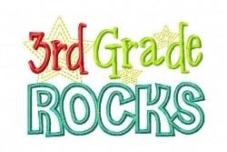 photo that says third grade rocks