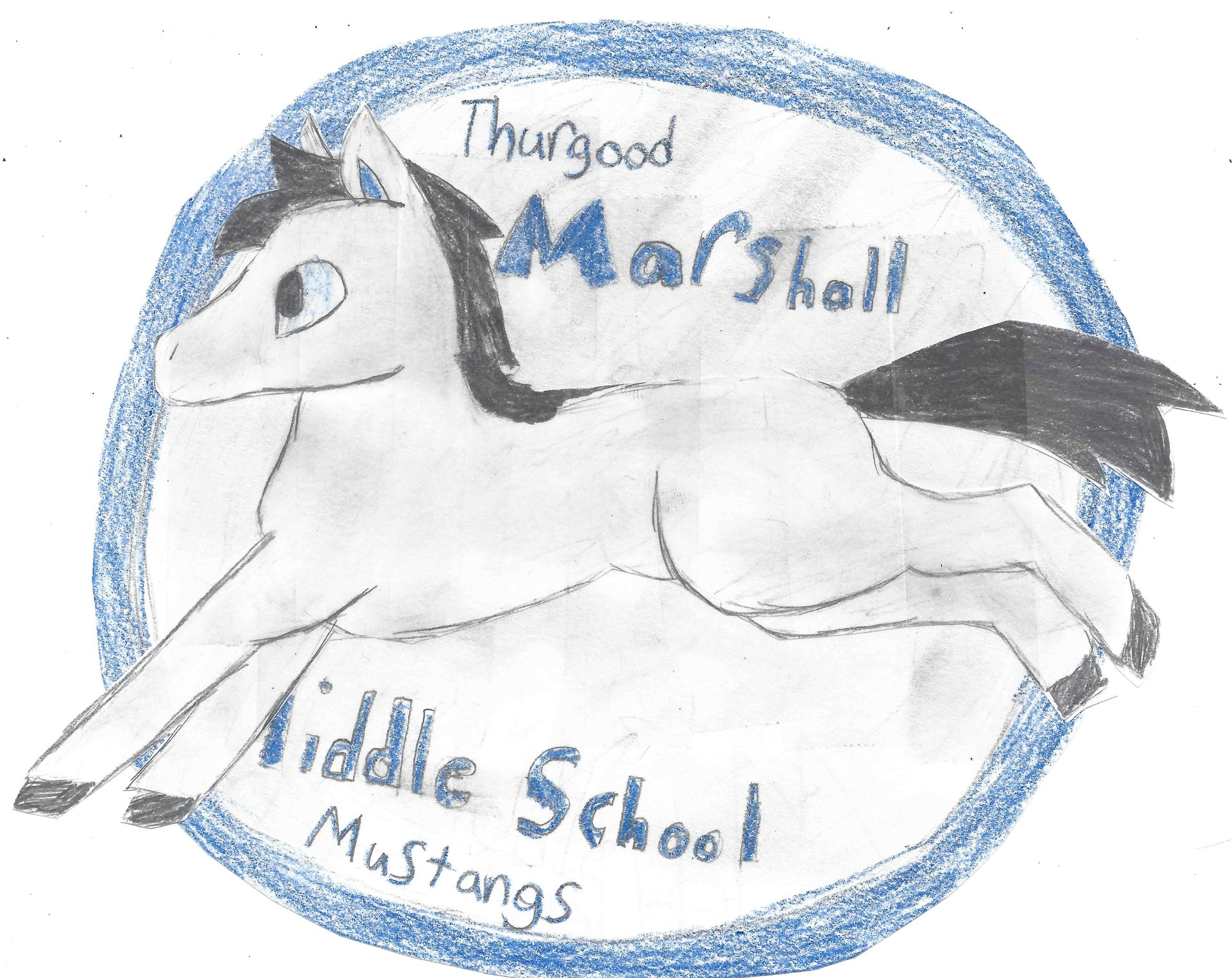 Mmo Logo Contest Marshall Mustang Organization Thurgood Drawings By Rebecca K 7th Grade