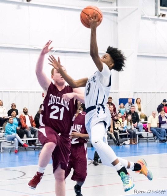 Student Shooting Basketball