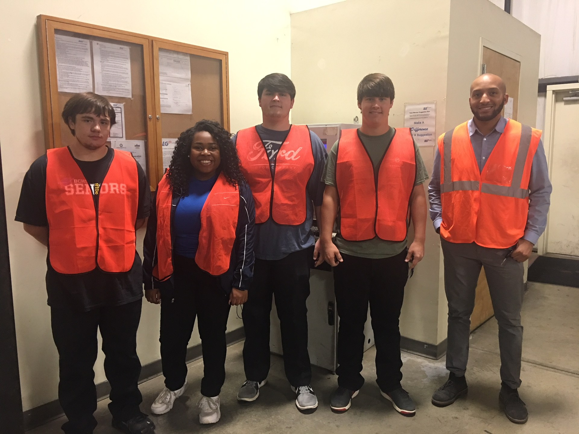 Co-op students interning at BLG Logistics.