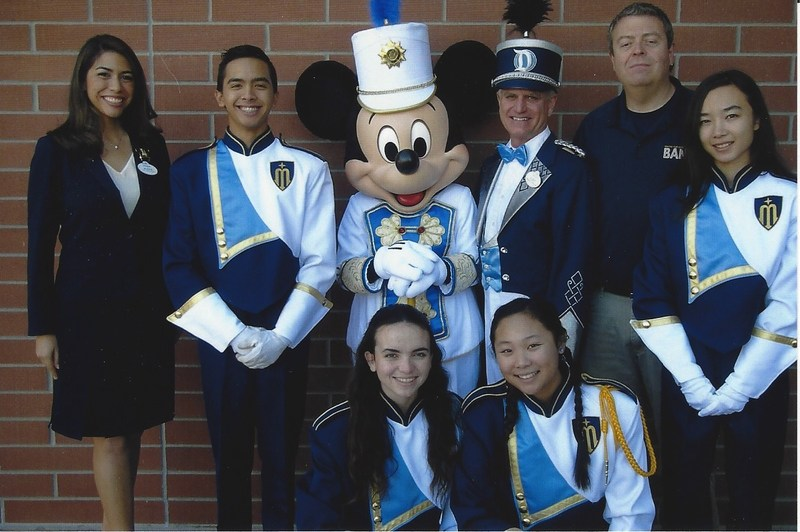 Marina students and Mickey Thumbnail Image