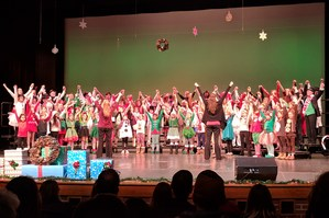 The entire cast of the Otsego Stars holiday show.