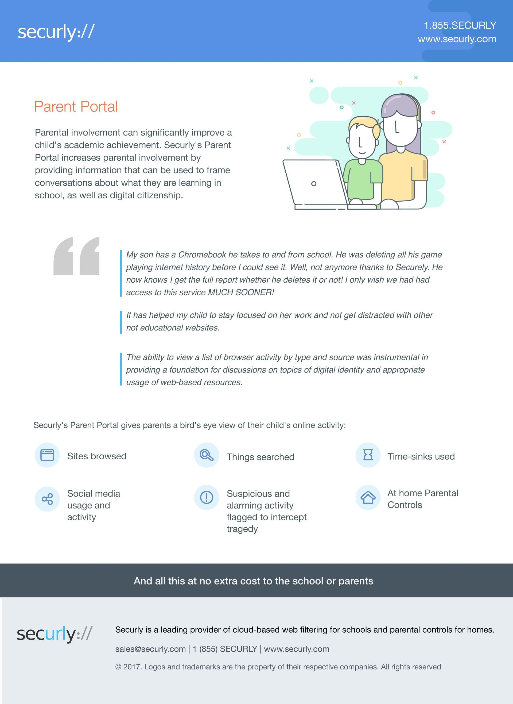Information for parents on the Parent Portal for Chromebooks