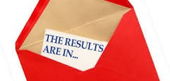 Image of a red envelope with a paper in it that reads