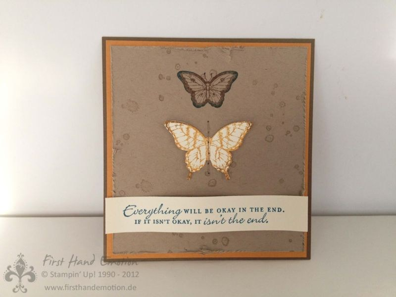 Another Butterfly card from Stampin Up.