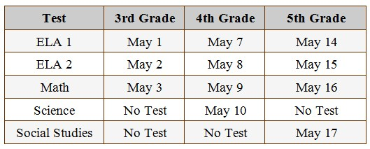Pageland Elementary State Testing Schedule Featured Photo