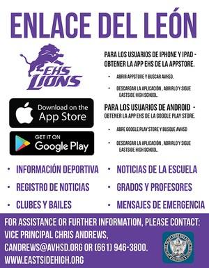 Lion Link App Flyer(Spanish)
