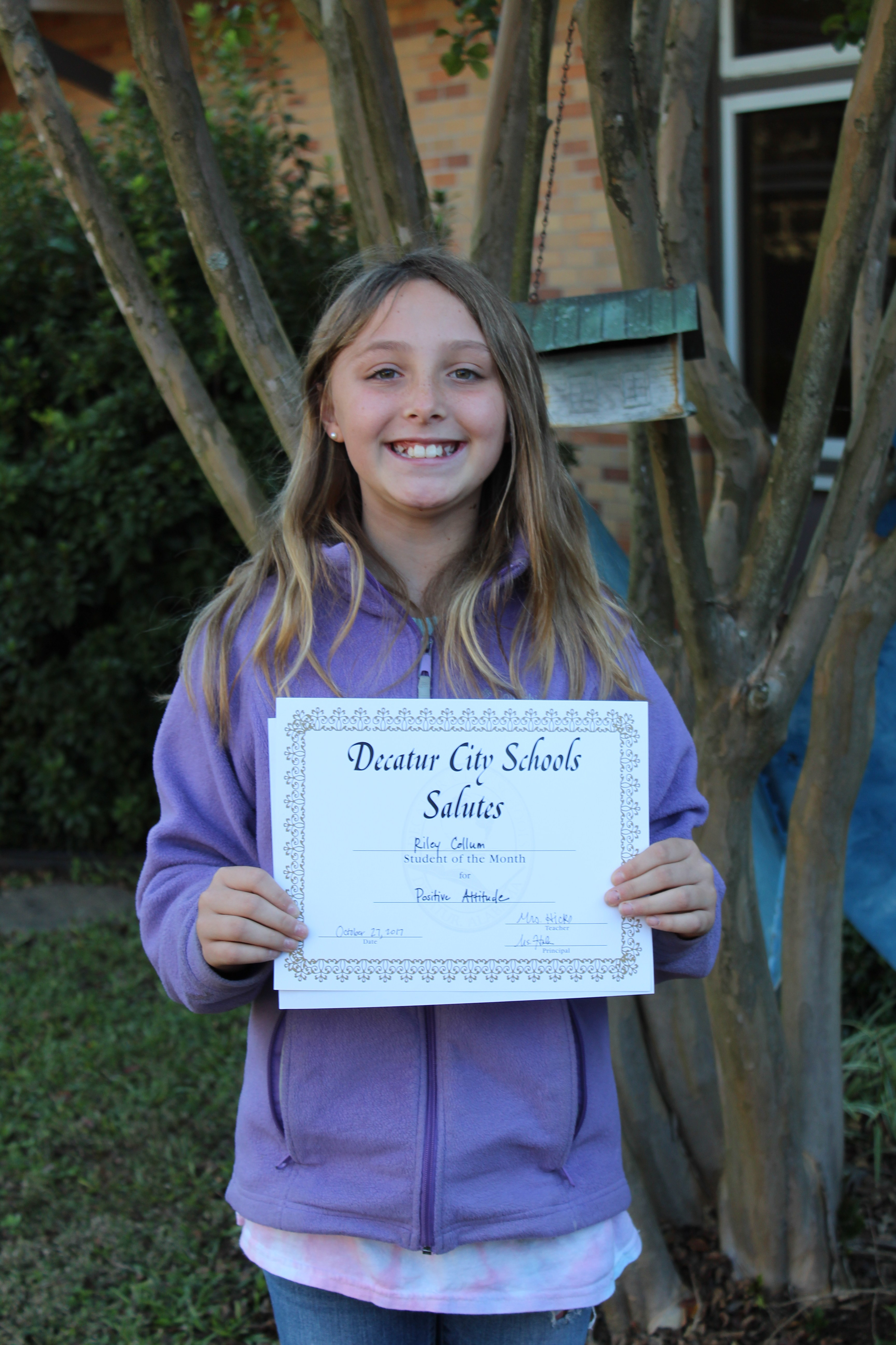 student of the month photo
