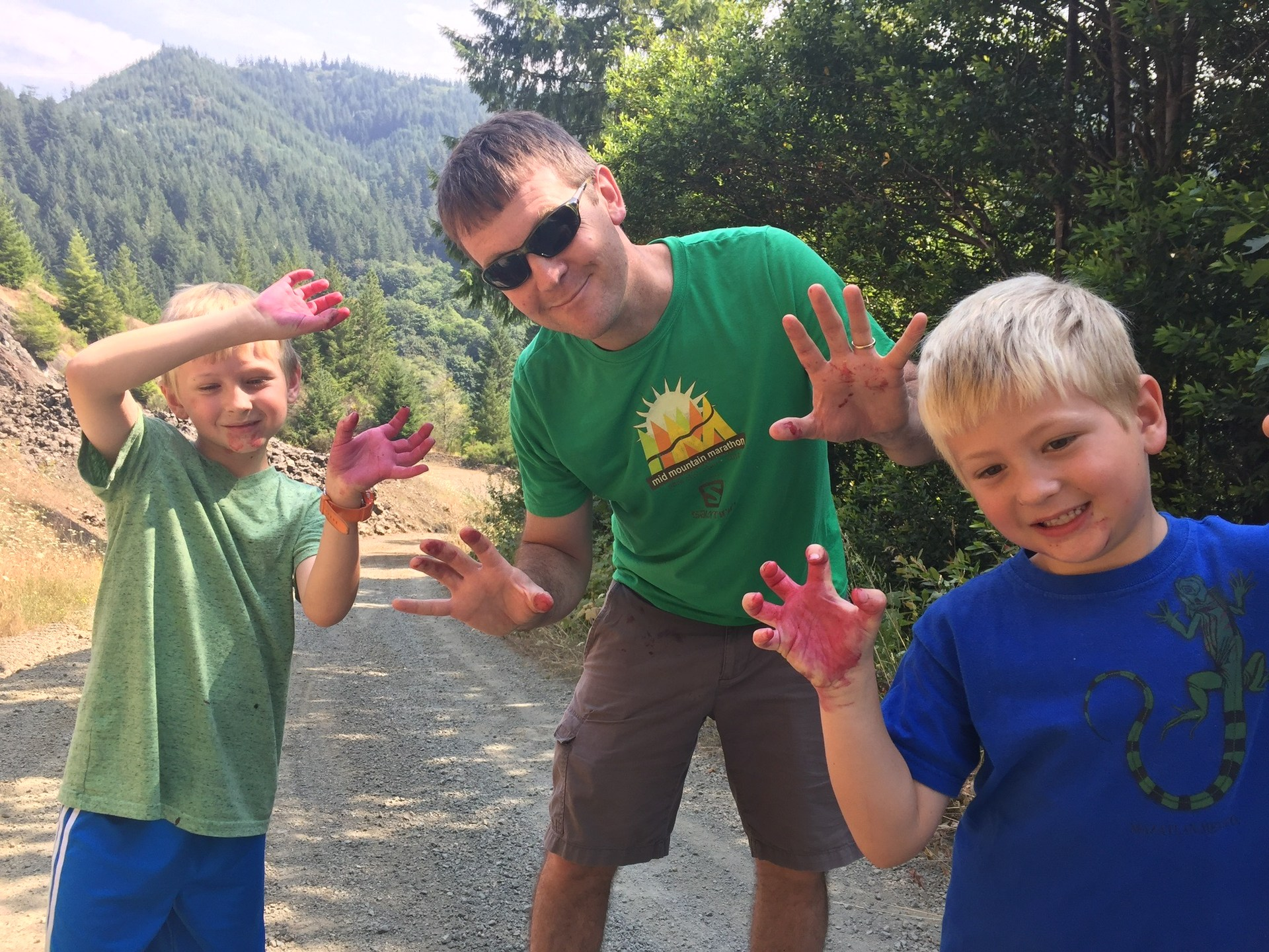 Blackberry picking in Oregon
