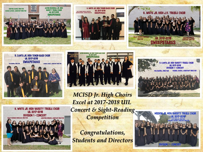 Pictured are the MCISD Jr. High School Choirs which include AMJH, KWJH, RCJH, and MJH.