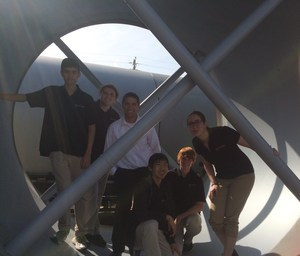 ESHS HyperEagles in SpaceX Hyperloop Tube.jpg