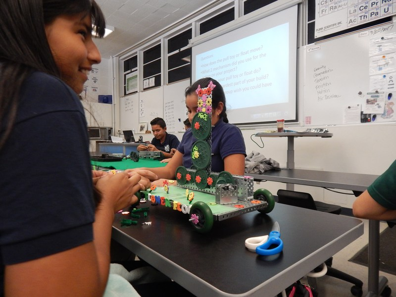 Female students at Baldwin Park Unified's Holland Middle School will soon learn how to create and program robots through an after-school program funded by a grant from Cal Poly Pomona's Adopt-a-Femineer School Program.