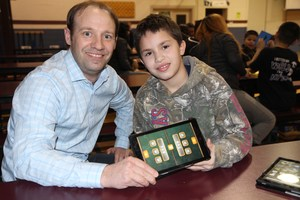 student and teacher with online math game