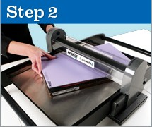 Step 2 on how to use our Jumbo die cutter.