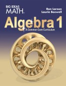 Big Ideas Math High School Algebra 1 by Ron Larson and Laurie Boswell