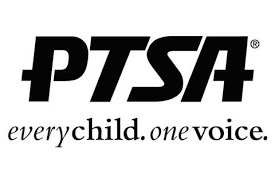 PTSA Logo.  Every child, one voice.