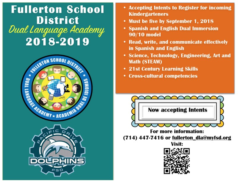 Dual Language Academy QR code Information