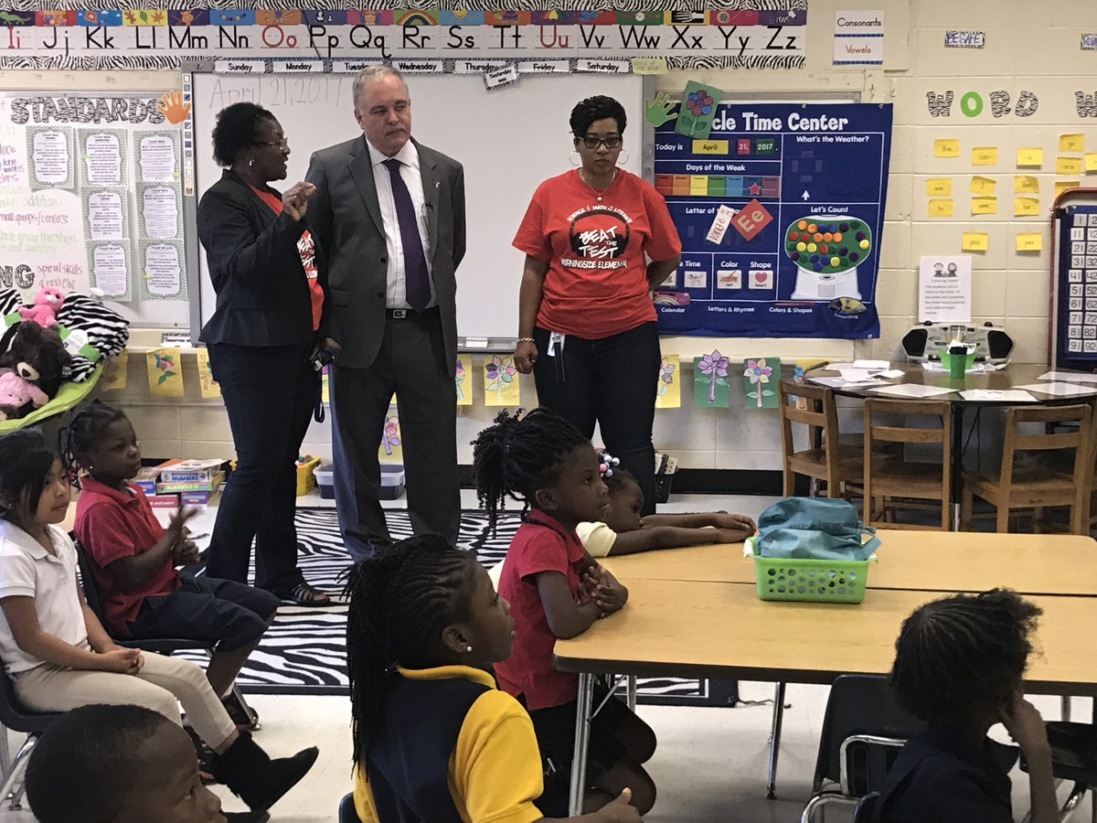 dougherty county school system richard woods morningside principal dr christine ford in a classroom