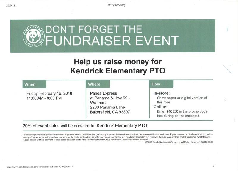 Panda Express PTO Fundraiser Thumbnail Image