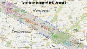 Map of Eclipse Route in TN