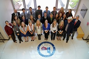 Commissioner Riley and Dr. Stephens with MISD Student Leadership.jpg