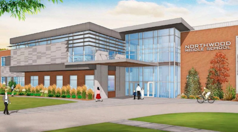 Artist rendition of the new Northwood Middle School.