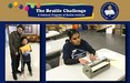 Xavier and Jessica at the Braille Challenge.