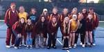Members of the varsity girls tennis team