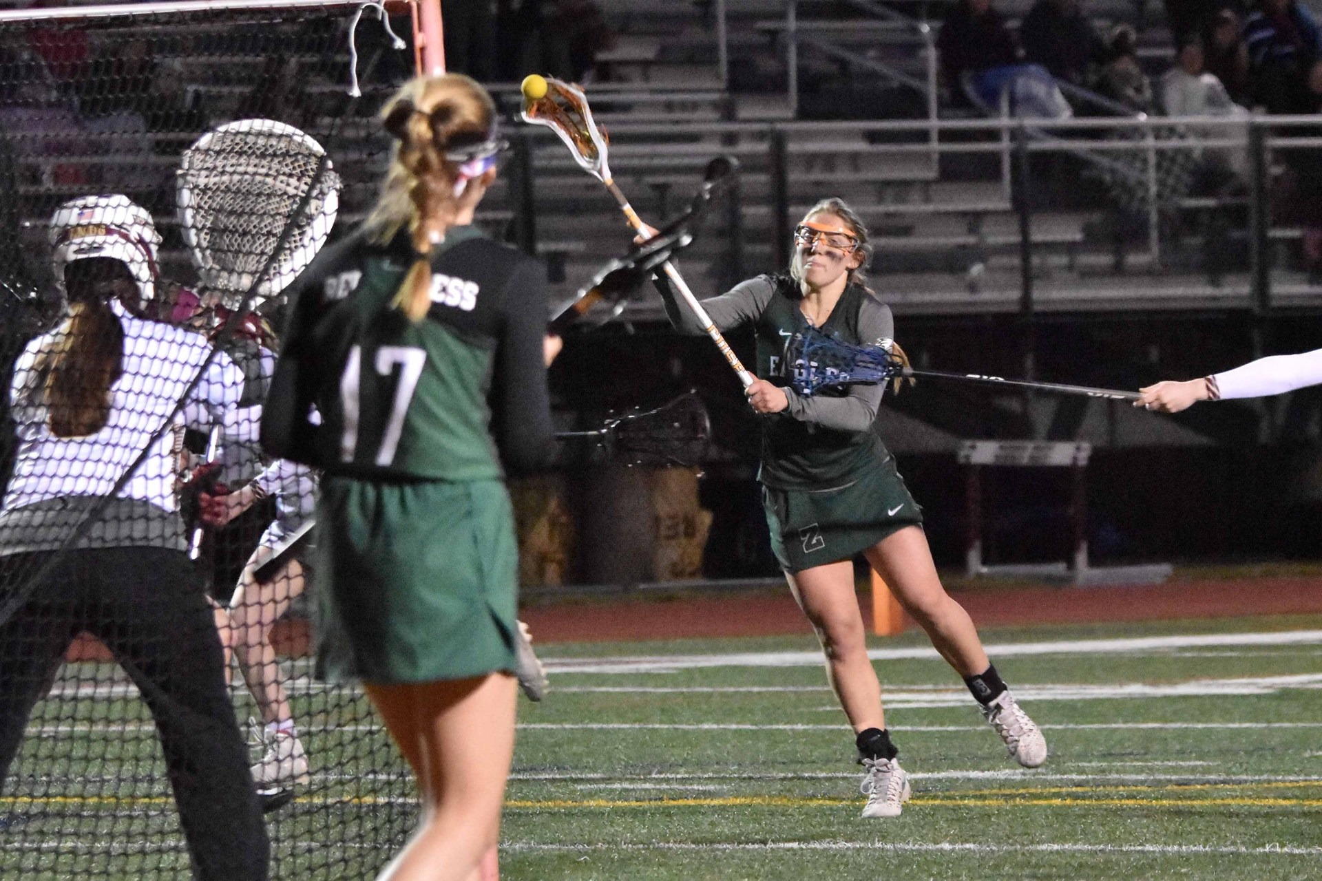 Girls Lacrosse action photo