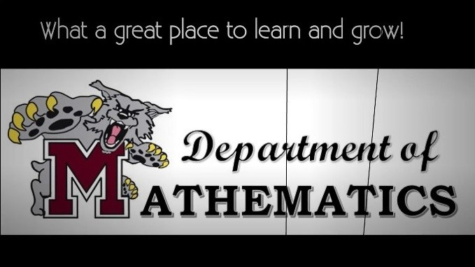Math Department Log with Wildcat