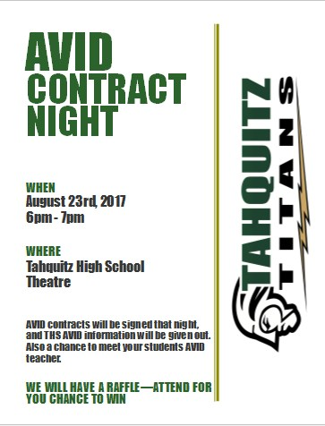 AVID Contract Signing Night