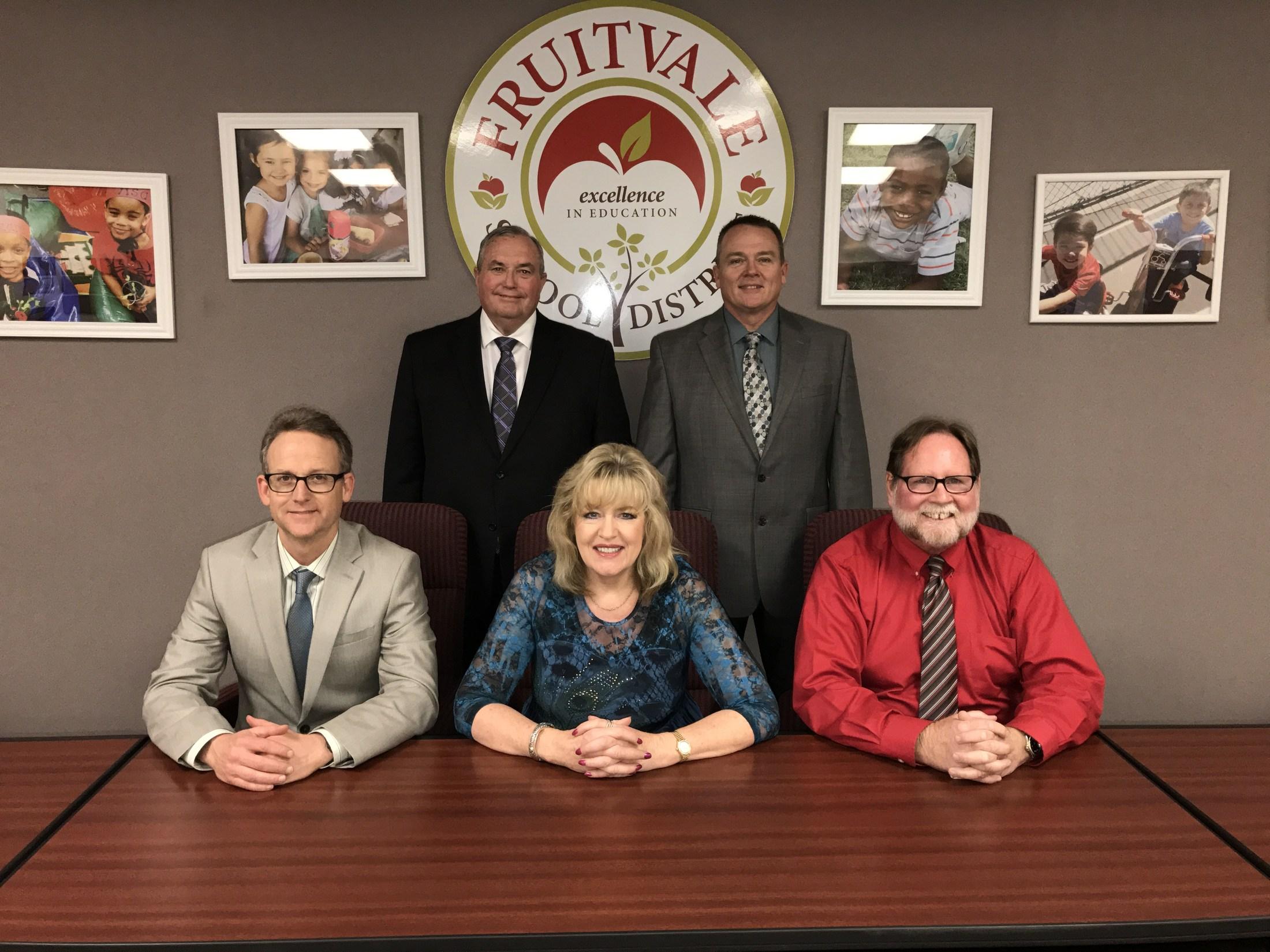 Tina Stout (Board President) Andrew Bransby (Board Clerk) Stan Greene (Board Member) Bill Jager (Board Member) Richard Traynor (Board Member)