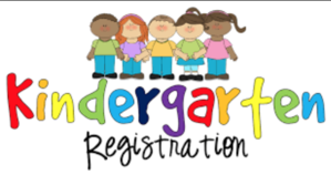 image of sign for kindergarten registration