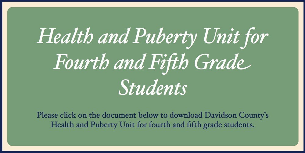 Health and Puberty Lessons for Fourth and Fifth Grade Students