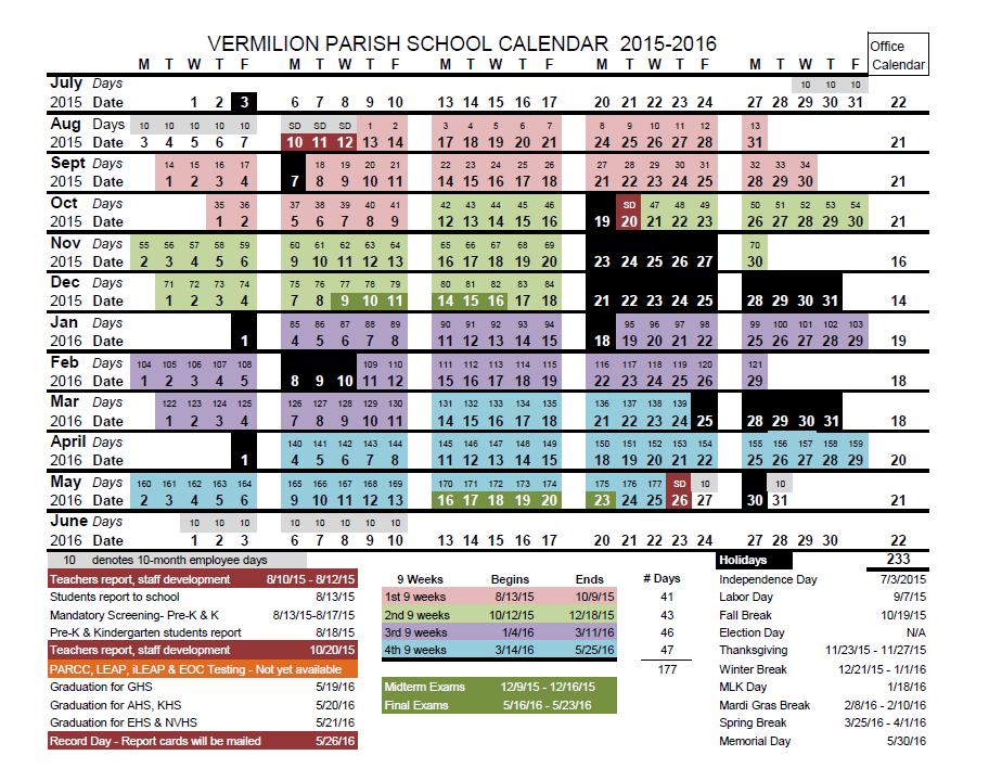 2016-2016 Calendar