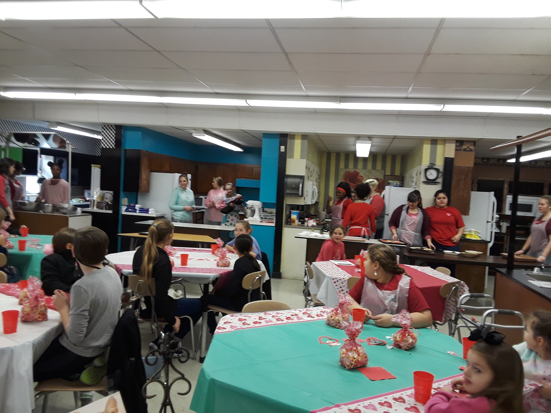 Valentines's decorated cooking class