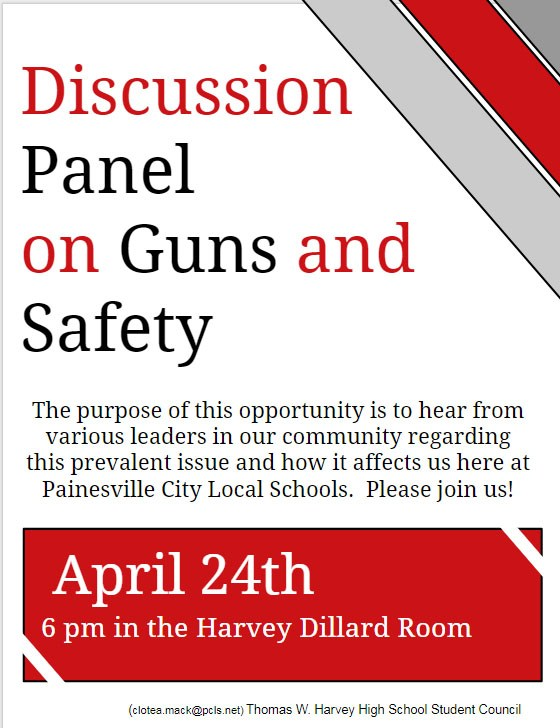 TONIGHT: Harvey Student Council Hosts Forum on Gun Violence (4/24) Thumbnail Image