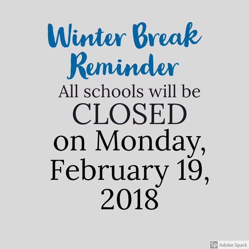 Winter Break Reminder