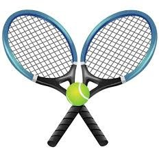 Two Tennis Rackets and A Green Tennis Ball