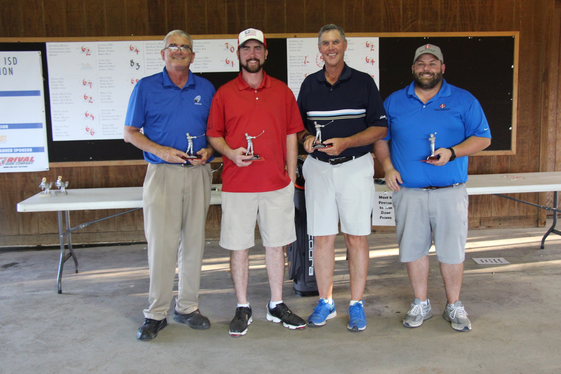 Third place winners were Victor Jones, Jared Jones, Boyd Weaver and Barry Jennings, representing Steele &  Freeman, the tournament's Title Sponsor.
