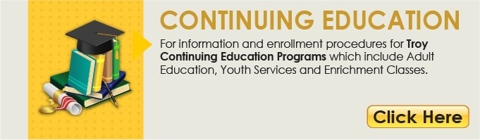 Continuing Education Button linking to the Continuing Education Department webpage.
