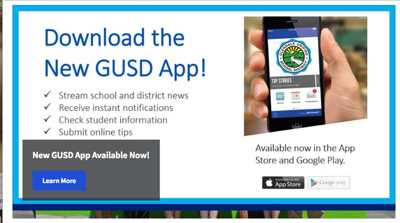 Download the NEW GUSD APP Thumbnail Image
